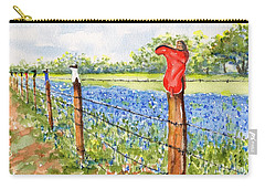 Texas Bluebonnets Boot Fence Carry-all Pouch