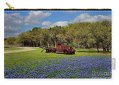 Texas Bluebonnets Carry-all Pouch by Janette Boyd