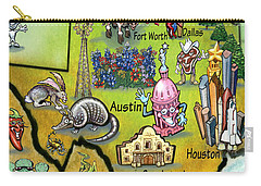 Texas Cartoon Map Carry-all Pouch