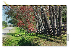 Carry-all Pouch featuring the photograph Texas Fall by Lori Mellen-Pagliaro