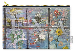 Texas Flowers In Blue Carry-all Pouch