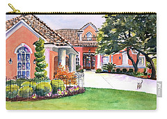 Texas Home Spanish Tuscan Architecture  Carry-all Pouch