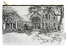 Carry-all Pouch featuring the painting Texas House Portrait 4 by Hanne Lore Koehler