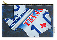 Texas License Plate Map Carry-all Pouch by Design Turnpike