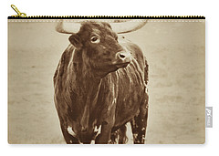 Texas Longhorn And The Windmill Carry-all Pouch