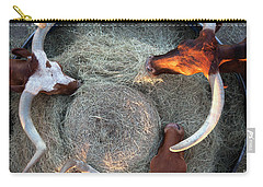 Texas Longhorn Cattle, Ft. Worth Stockyards Carry-all Pouch
