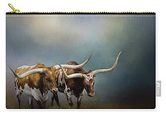 Texas Longhorn Pair Carry-all Pouch