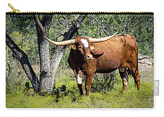 Carry-all Pouch featuring the photograph Texas Longhorn Steer by David Morefield