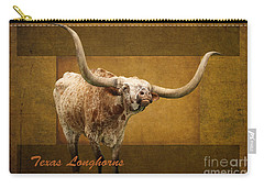Texas Longhorns Carry-all Pouch by Ella Kaye Dickey