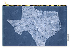 Texas Map Music Notes 5 Carry-all Pouch