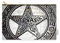 Carry-all Pouch featuring the photograph Texas Ranger Badge by George Pedro