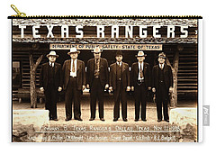 Carry-all Pouch featuring the photograph Texas Rangers Company B At Their Dallas Headquarters 1938 by Peter Gumaer Ogden