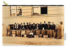 Carry-all Pouch featuring the photograph Texas Rangers Grand Haul Of Bootleggers 1922 Near Tyler Texas by Peter Gumaer Ogden