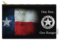 Texas Rangers Motto - One Riot, One Ranger  2 Carry-all Pouch