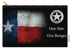 Texas Rangers Motto - One Riot, One Ranger Carry-all Pouch