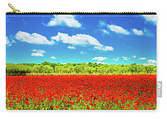 Carry-all Pouch featuring the photograph Texas Red Poppies by Darryl Dalton