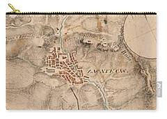 Texas Revolution Santa Anna 1835 Map For The Battle Of San Jacinto  Carry-all Pouch