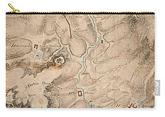 Texas Revolution Santa Anna 1835 Map For The Battle Of San Jacinto  Carry-all Pouch