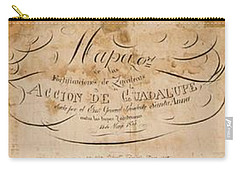 Texas Revolution Santa Anna 1835 Map For The Battle Of San Jacinto With Border Carry-all Pouch