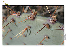 Carry-all Pouch featuring the photograph Texas Spikes by Laddie Halupa