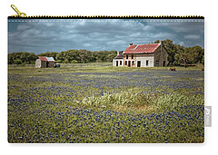 Carry-all Pouch featuring the photograph Texas Stone House by Linda Unger