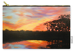 Texas Sunset Silhouette Carry-all Pouch