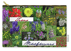 Texas Wildflower Collage Carry-all Pouch