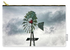 Carry-all Pouch featuring the photograph Texas Windmill by Joan Bertucci