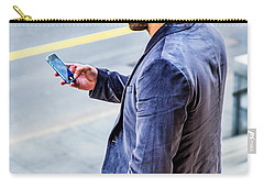 Man Texting Carry-all Pouch
