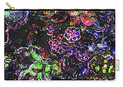 Textural Garden Plants Carry-all Pouch