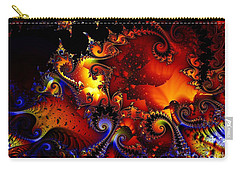 Texture Of Jackolantern Carry-all Pouch by Ron Bissett