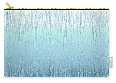Textured Blue  Carry-all Pouch