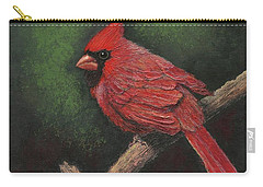 Textured Cardinal Carry-all Pouch