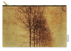 Carry-all Pouch featuring the mixed media Textured Eerie Trees by Dan Sproul
