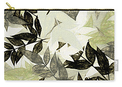 Carry-all Pouch featuring the digital art Textured Leaves Abstract By Kaye Menner by Kaye Menner