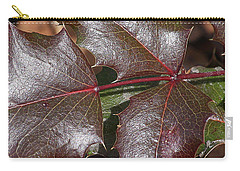 Carry-all Pouch featuring the photograph Textured Leaves by Doris Potter