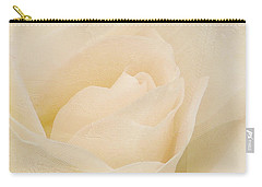 Textured Pastel Rose Carry-all Pouch