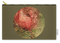 Carry-all Pouch featuring the painting Textured Rose Art by Mary Wolf