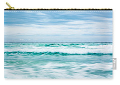 Textures In The Waves Carry-all Pouch by Shelby  Young