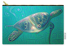 Thaddeus The Turtle Carry-all Pouch by Erika Swartzkopf