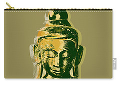 Carry-all Pouch featuring the digital art Thai Buddha #4 Pop Art Warhol Style Print.  by Jean luc Comperat