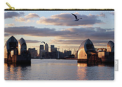 Thames Barrier And Seagulls Carry-all Pouch