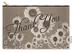 Thank You Card Daisies Carry-all Pouch
