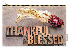 thankful and blessed - Thanksgiving theme Carry-all Pouch