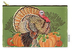 Carry-all Pouch featuring the painting Thanksgiving-b by Jean Plout