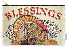 Carry-all Pouch featuring the painting Thanksgiving-e by Jean Plout