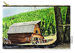 Carry-all Pouch featuring the painting That Barn From That Movie by Tom Riggs