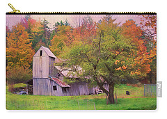 Carry-all Pouch featuring the photograph That Old Gray Barn by John Rivera