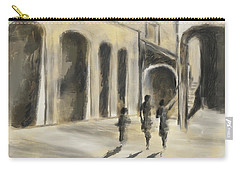 Carry-all Pouch featuring the mixed media That Old House by Eduardo Tavares