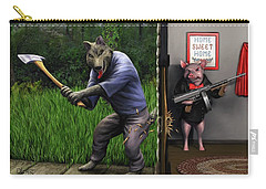 That's What You Think Wolf Carry-all Pouch